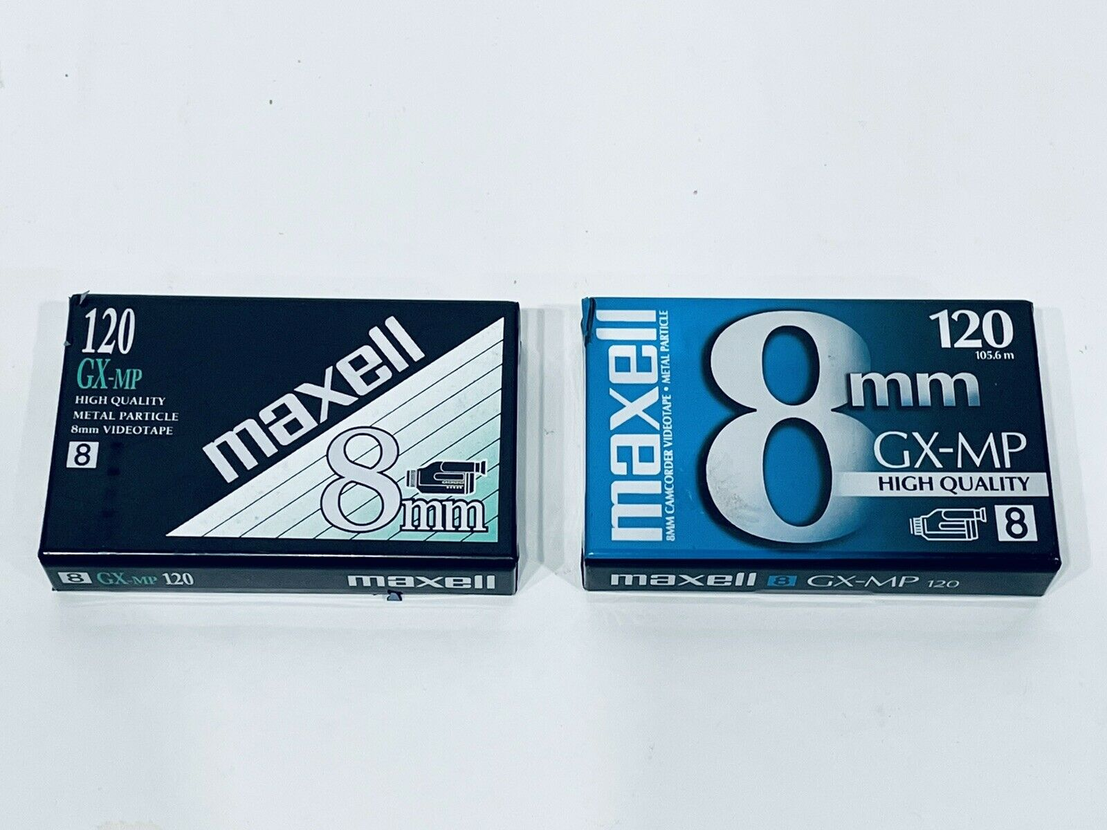 (2) MAXELL 8 mm GX-MP Camcorder Video Tape 8mm 120 New Sealed