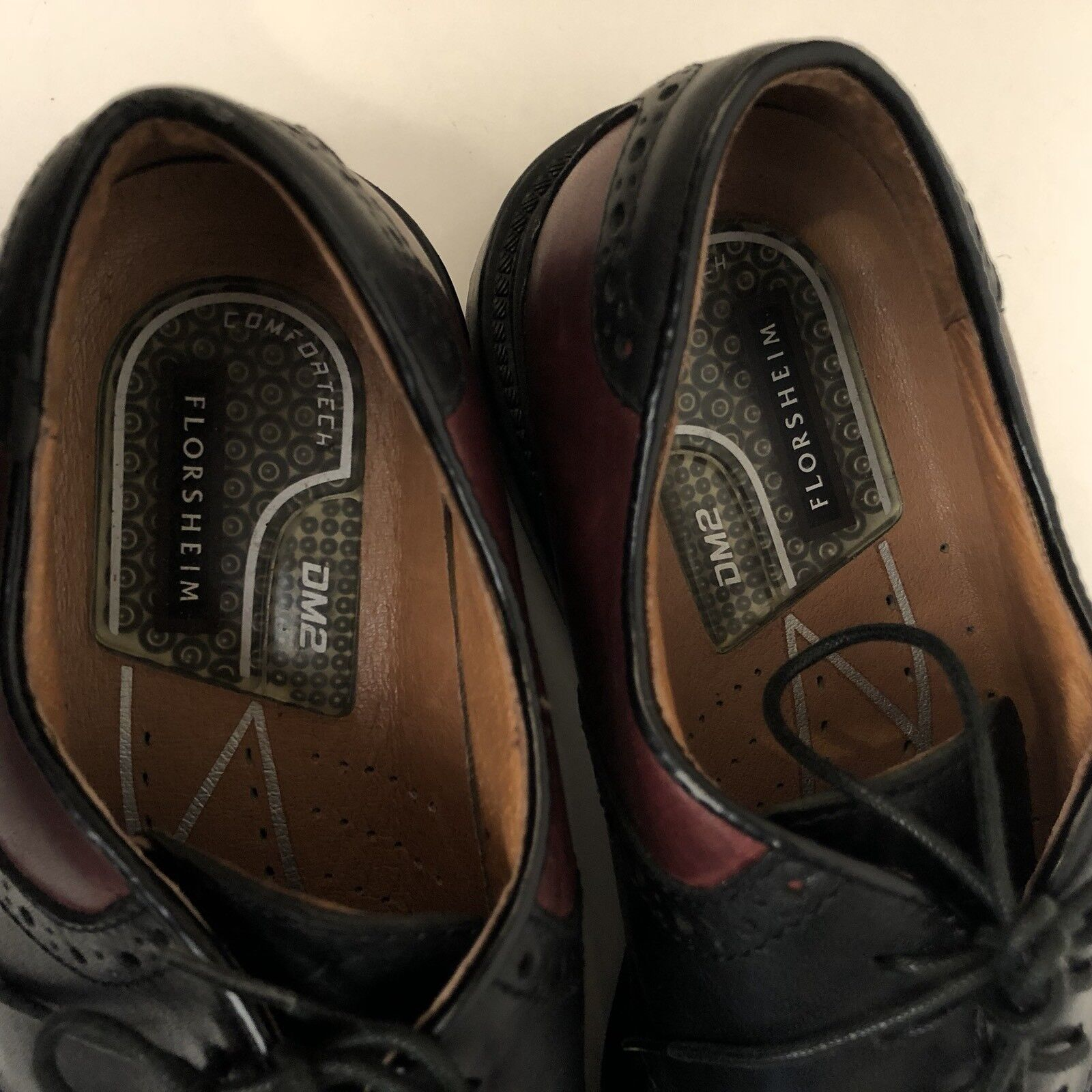 Florsheim Dryden Saddle schuhe Größe 8.5 Burgundy rot rot rot Brogue Leather Oxfords 98dc90