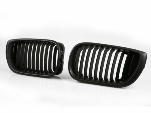 * For BMW E46 Front Grille 02-05 4 Door Kidney Style Black