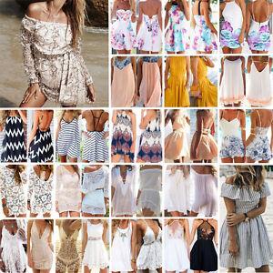 S-XXL-Femmes-Ete-Mini-Robe-Courte-Plage-Robe-Cocktail-Mariage-Fete-soiree-Dress