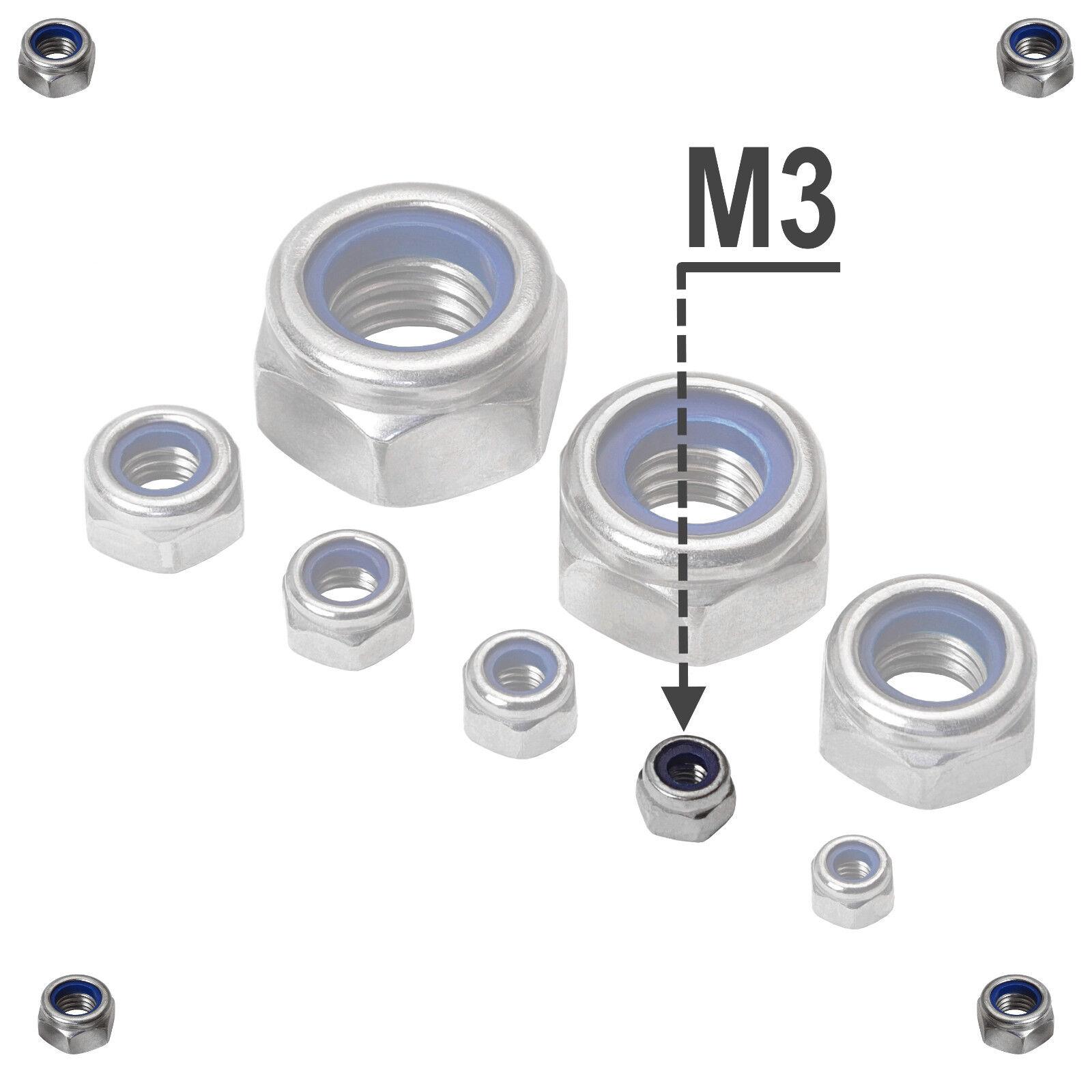 Selbstsichernde Edelstahl Sechskant Stoppmuttern DIN 985 A2 VA V2A V2A V2A M2,5-M24 | Guter weltweiter Ruf  e6e945
