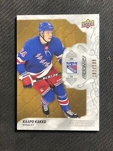 2019-20-UPPER-DECK-ENGRAINED-KAAPO-KAKKO-ROOKIE-OAK-WOOD-ed-102-299