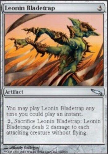 4x Leonin Bladetrap MTG Mirrodin NM Magic Regular