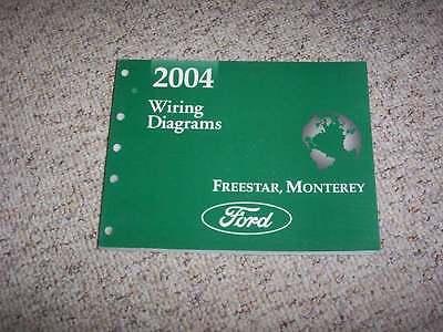 2004 ford freestar electrical wiring diagram manual s se ses sel limited v6  39l  ebay