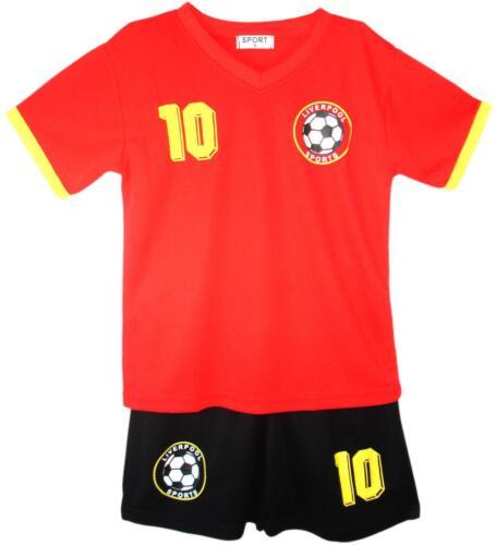 BOYS FOOTBALL KIT SHORT SET LIVERPOOL RED 2-13years BNWT #LIVERPOOL