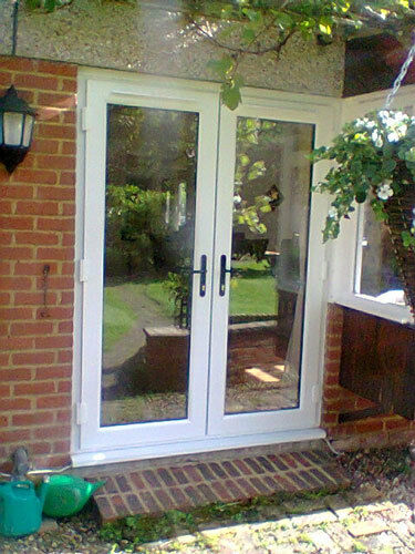 WHITE UPVC FRENCH DOORS PATIO DOORS WITH GLASS MADE TO MEASURE