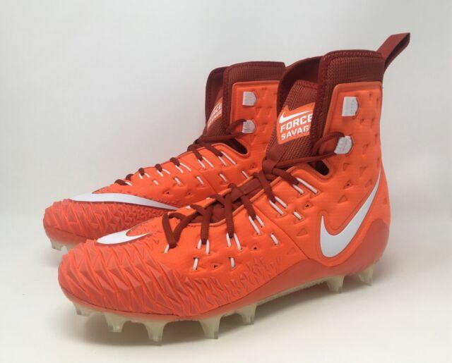 detailed look e2ab8 fb597 Nike Mens Force Savage Elite TD Football Cleats - Orange White - Size 12 -