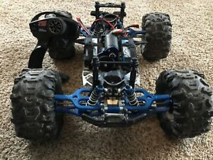 Details about TRAXXAS E-MAXX 4WD BRUSHLESS Custom, fully upgraded, Aluminum  & RPM Basher! LOOK