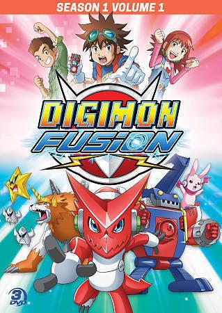 Digimon Fusion: Season 1 - Volume 1 DVD.. (2015, 3-Disc Set).. NEW