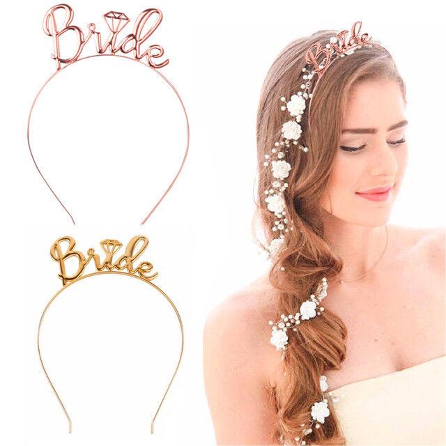 Bride To Be Bridesmaid Tiara Crown Headband Hen Party Wedding Hair Accessories