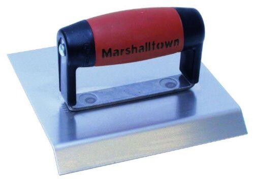 "Marshalltown 483CH 6/"" x 6/"" Stainless Chamfer Edger-DuraSoft Handle; 3//4/"" Lip"
