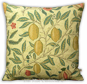 William-Morris-Funda-De-Cojin-Tela-Fruta-Naranja-Limon-pomengranate-Sofa