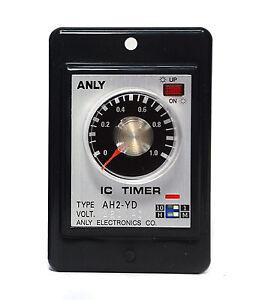 1pc industrial timer flush mounting multi range ah2 yd 1m 10h ac110v