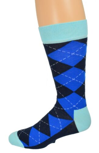 Sierra Socks Men/'s Casual Cotton Blend Fashion Design Mid Calf Dress Crew Socks
