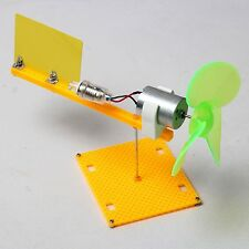 Micro wind turbines generator small DC motor blades w/ holder DIY project kit