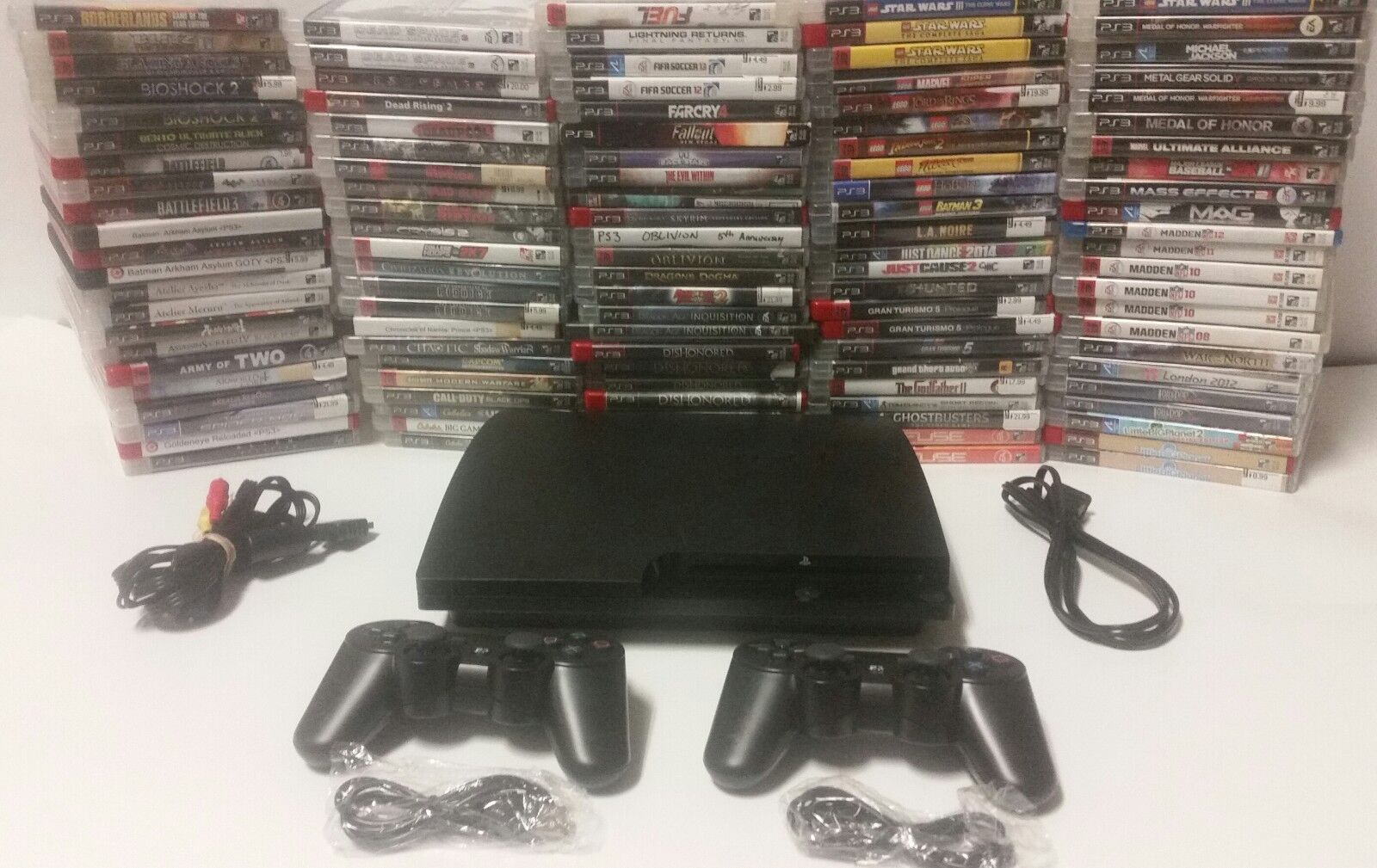 Playstation 3 Ps3 Console system 250gb, 320gb, 2 BRAND NEW controllers, games
