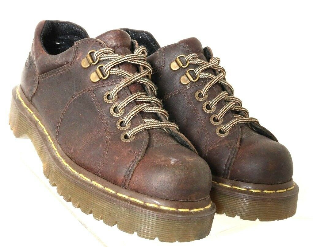 Dr. Doc Martens 10940 Brown Leather 6-Eye Casual Chunky Oxford Men's US 6