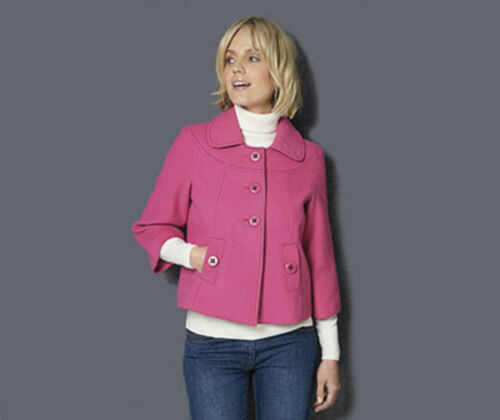 BNWT TG Ladies Pink Chic Smart Jacket Coat 12 14 16