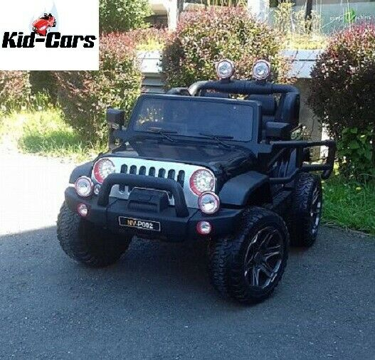 Elektroauto in schwarz Kinderfahrzeug Jeep 2 sitzer SUV ATV Kinderauto 12V7AH