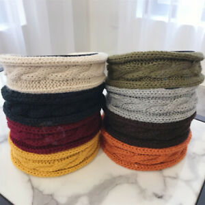 HO-Women-Solid-Color-Woolen-Knitted-Headband-Wide-Brimmed-Hair-Hoop-Eager