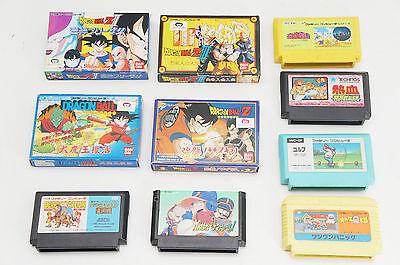 FamiCom Casette Set 10pc Dragon Ball etc VG 422e11