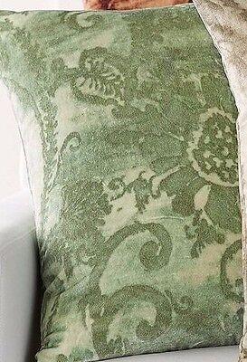 """Pottery Barn Scarlett Velvet Pillow Cover Green 22""""x22"""""""