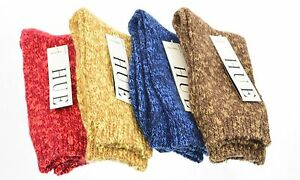 HUE-Two-Tone-Luxe-Blend-Boot-Crew-Socks-W-W14890-2287