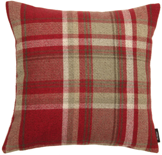 McAlister Textiles Heritage Scatter Red Tartan Cushion Covers Amazing Tartan Pillow Covers