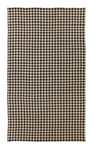 Burlap black checked table cloth 60x120 cotton woven into for Table 60x120