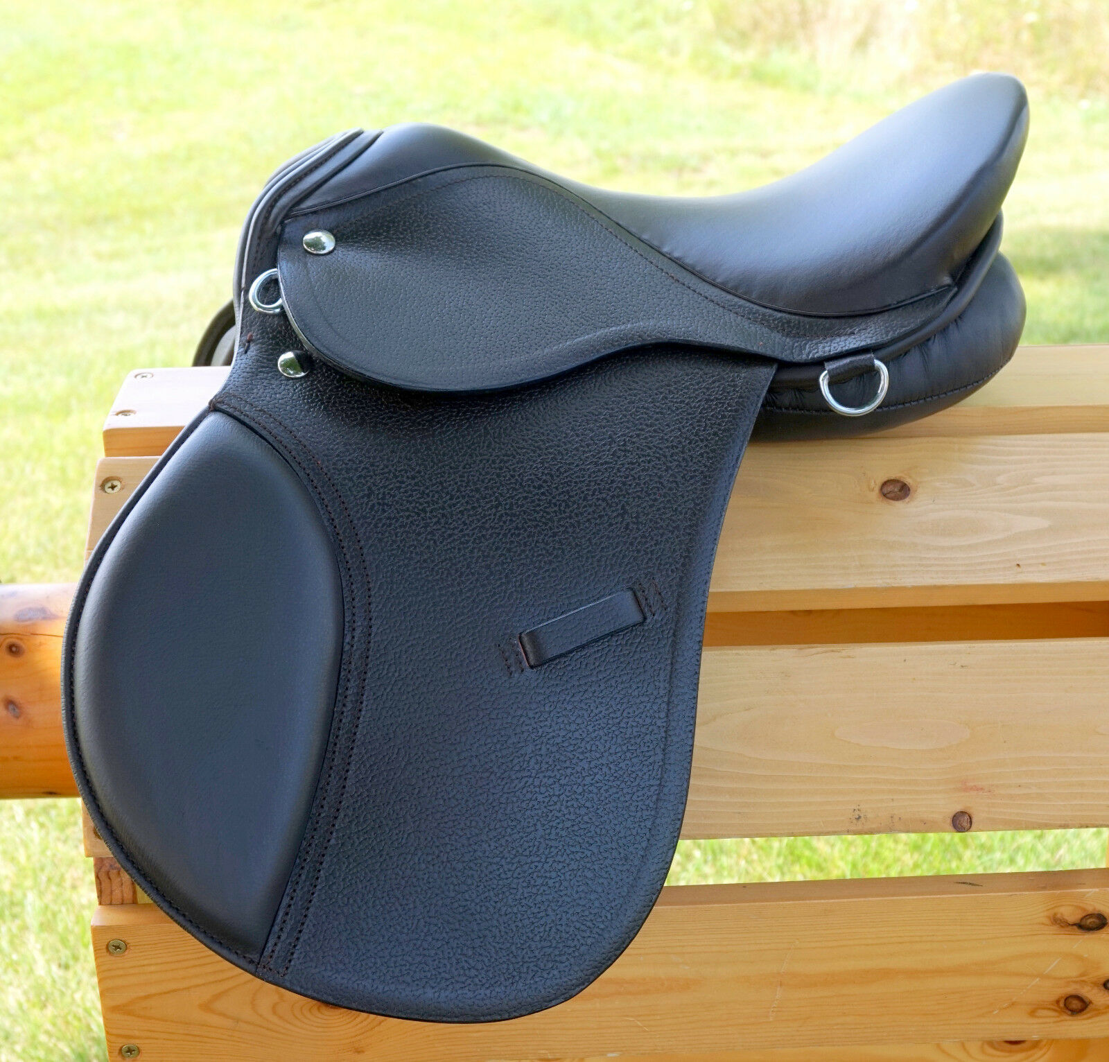 15  BROWN All Purpose  English EVENT JUMP Saddle  Leathers 36   48  Stirrup Irons  affordable