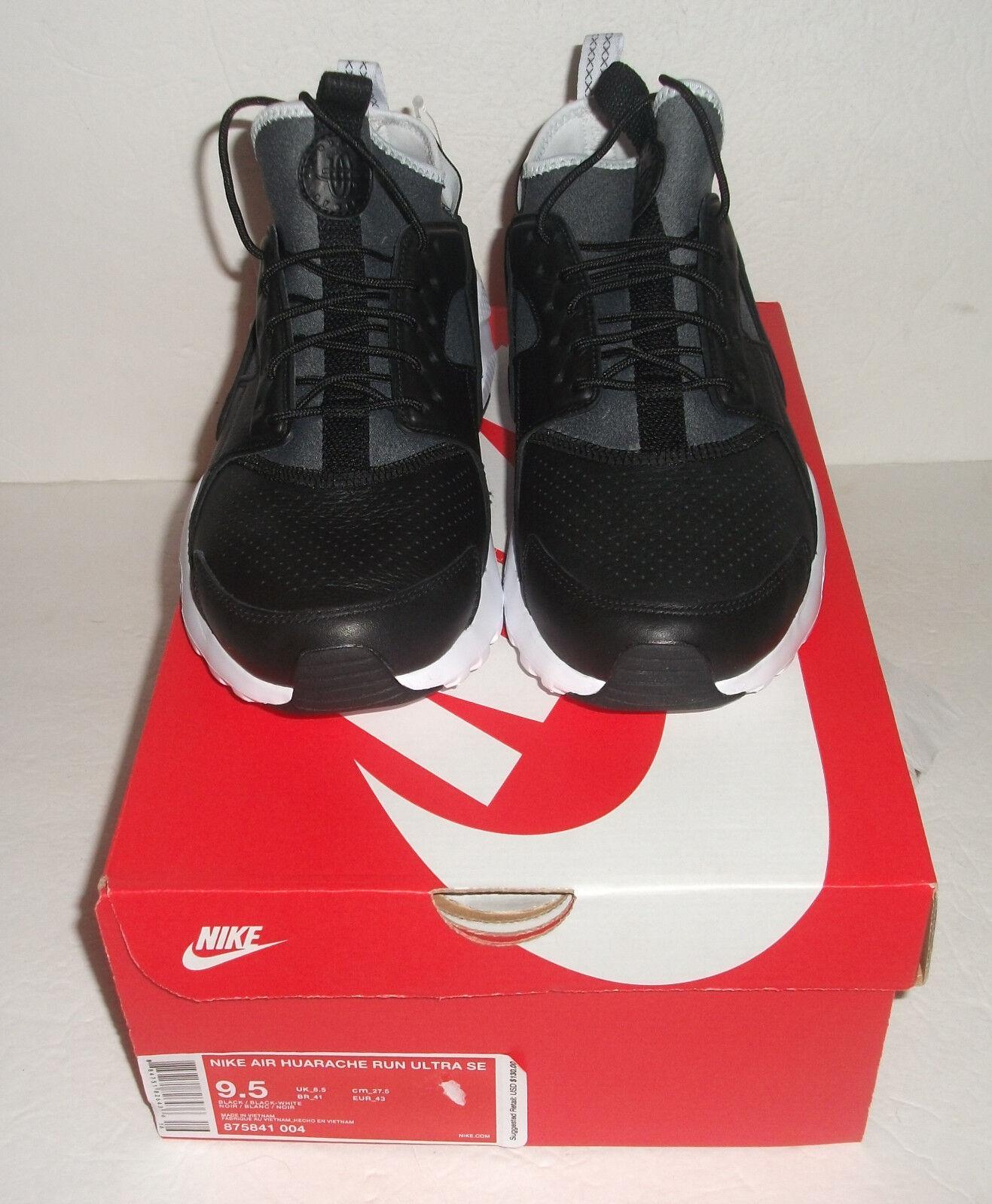 New Nike Air Huarache Run Ultra SE Running, Men's Size 9.5, Black, 875841 004