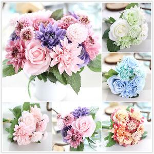 Kunstliche Rose Dahlie Blume Nelke Blumen Kunstblumen Hochzeit
