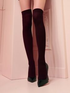 c98eb12be Trasparenze Dora Ribbed Wool Over Knee Socks Long Socks Brown One ...
