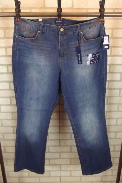 3f4946a04659d NWT  54 Bandolino Womens Jeans Mandie Plus Size 22W Barely Boot Leg Bootcut  Dark