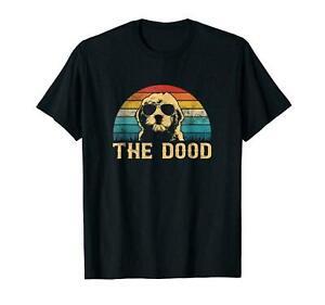 Goldendoodle The Dood Vintage Cute Dog Black T-shirt For Dog Lovers S-6XL