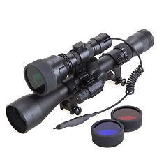 Tactical 3-9x40 Scope + C8 Cree XML T6 Single Mode Flashlight + Red Laser Set