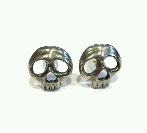Alchemy-Gothic-Skully-pair-of-earrings-pewter-chunky-studs