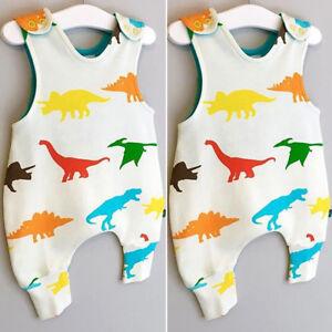 78d957a6d Image is loading Dinosaur-Newborn-Infant-Baby-Boy-Girls-Romper-Bodysuit-