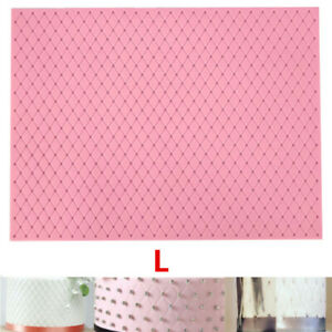 Quilted-Grid-Embossed-Cake-Border-Fondant-Impression-Silicone-Mat-Mold-Baking