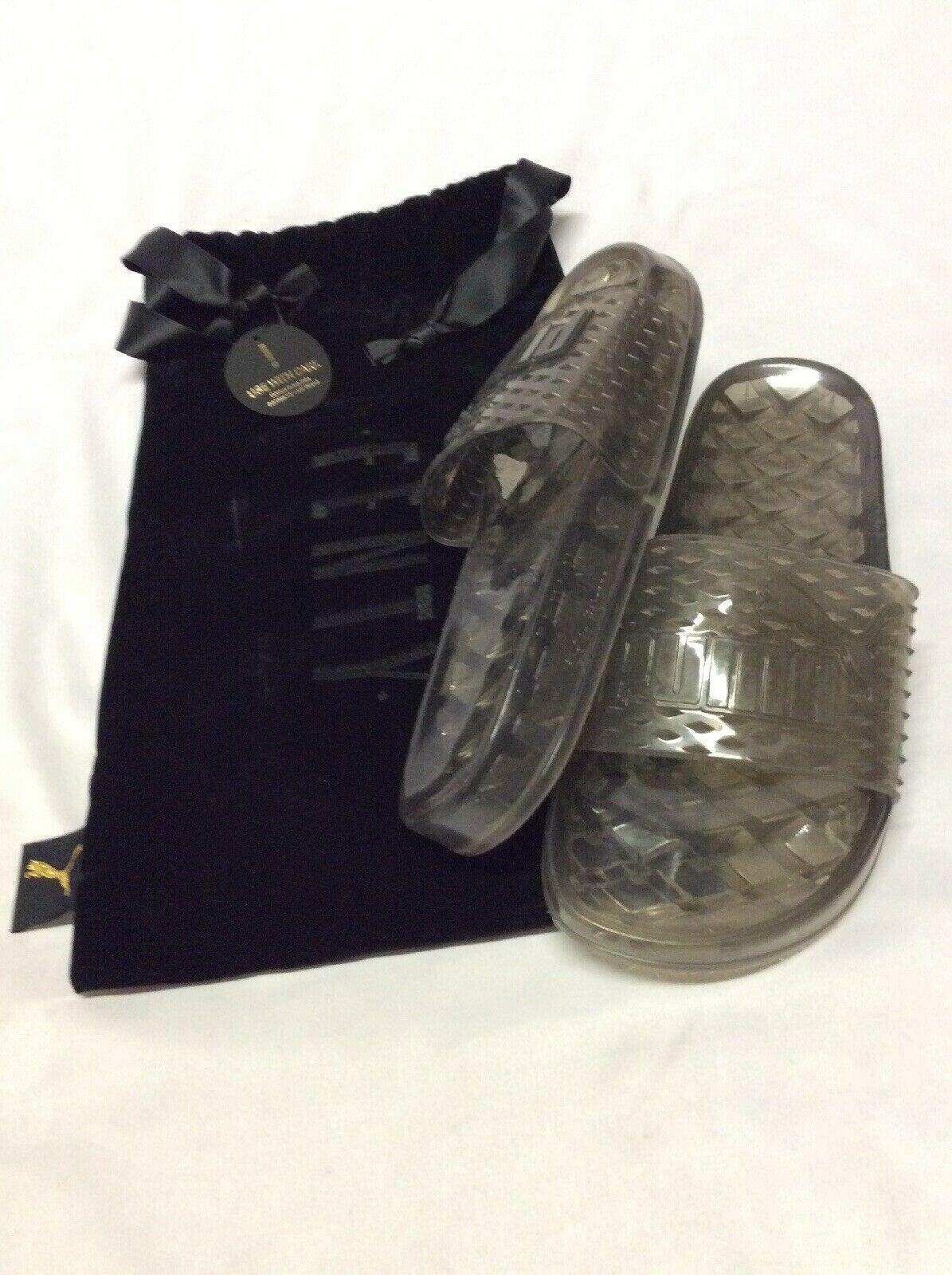 Puma Fenty By Rihanna Women's Slide Sandals,Black Clear, Size 7.5 Eur 38 UK  5