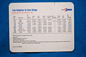 Amtrak-Pocket-Timetable-Los-Angeles-to-San-Diego-4-29-to-10-27-1984