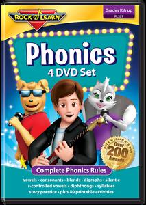 Fonetica-4-Dvd-Conjunto-de-Rock-039-N-Aprender-nuevo-RL329-cubre-todas-las-reglas-fonetica