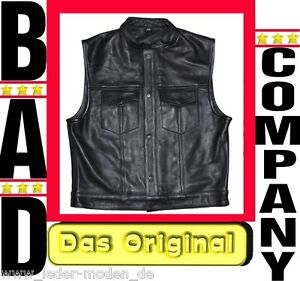 ANARCHY Sons BAD COMPANY  Kutte Lederweste Weste Bikerkutte Rocker Mod of  Billy