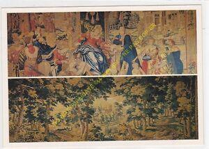 CP Postcard Tapestry Castle Of Loches Blind Scale Justica La Music & Oudenaarde