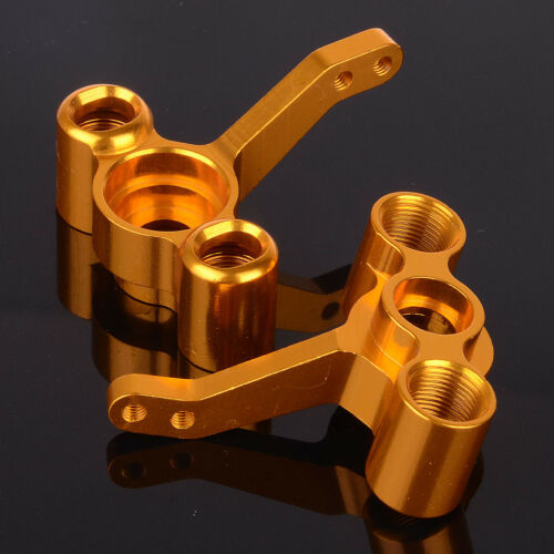 2p For 1//10th On-Road Car//Truck L//R RC HSP 122011 Golden Aluminum Steering Hub
