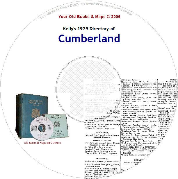 Cumberland /& Westmorland Kellys Directory 1894 CDROM