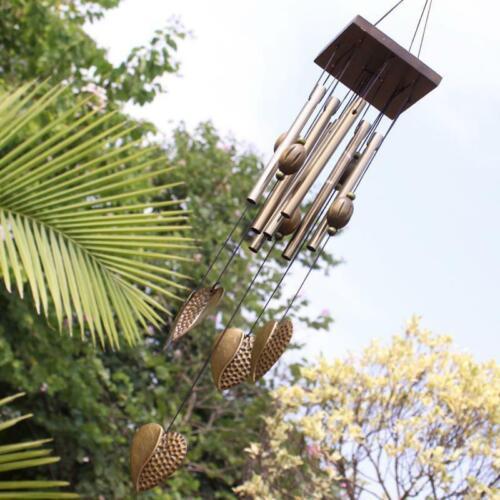 Herzen Wind Bell Chimes Metall 8 Rohre Rustikale Outdoor Garten Garten
