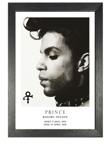 Prince 32 Tribute Black White Poster American Funk Pop Singer Photo Music Star