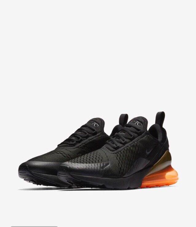 Nike Air Max AH8050-008 270 noir Total Orange AH8050-008 Max w/Receipt Taille 11.5 9d6b56