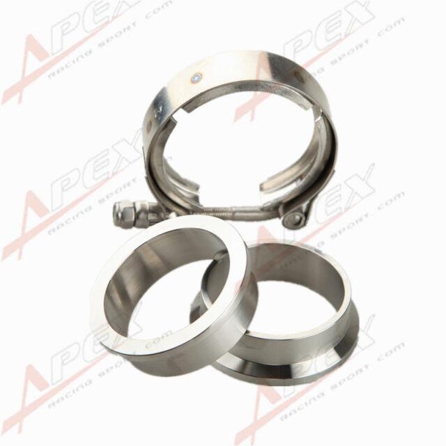 "2"" V-Band Vband Clamp CNC Stainless Steel Flange Flanges Kit Turbo"